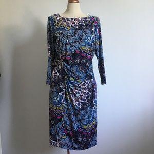 Joseph Ribkoff - Colorful paisley print dress